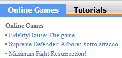 Aggiornamento �Online Games�