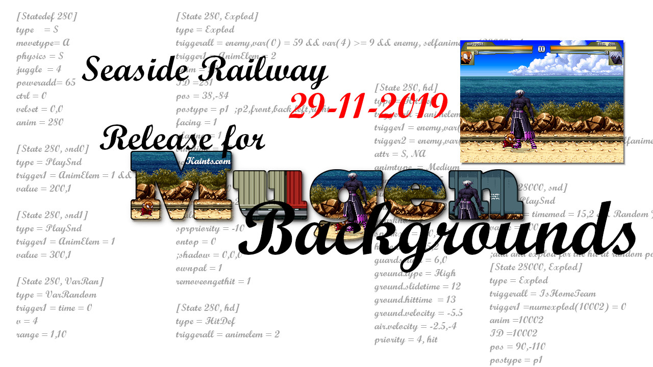 Nuovo Stage - New background: Seaside railway
