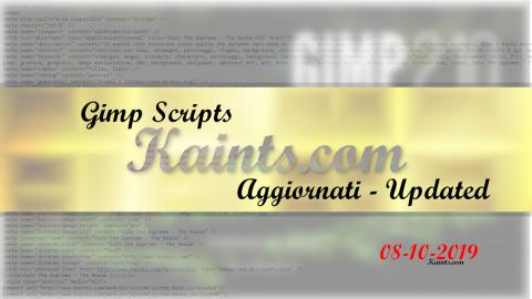 Gimp Scripts Aggiornati - Updated