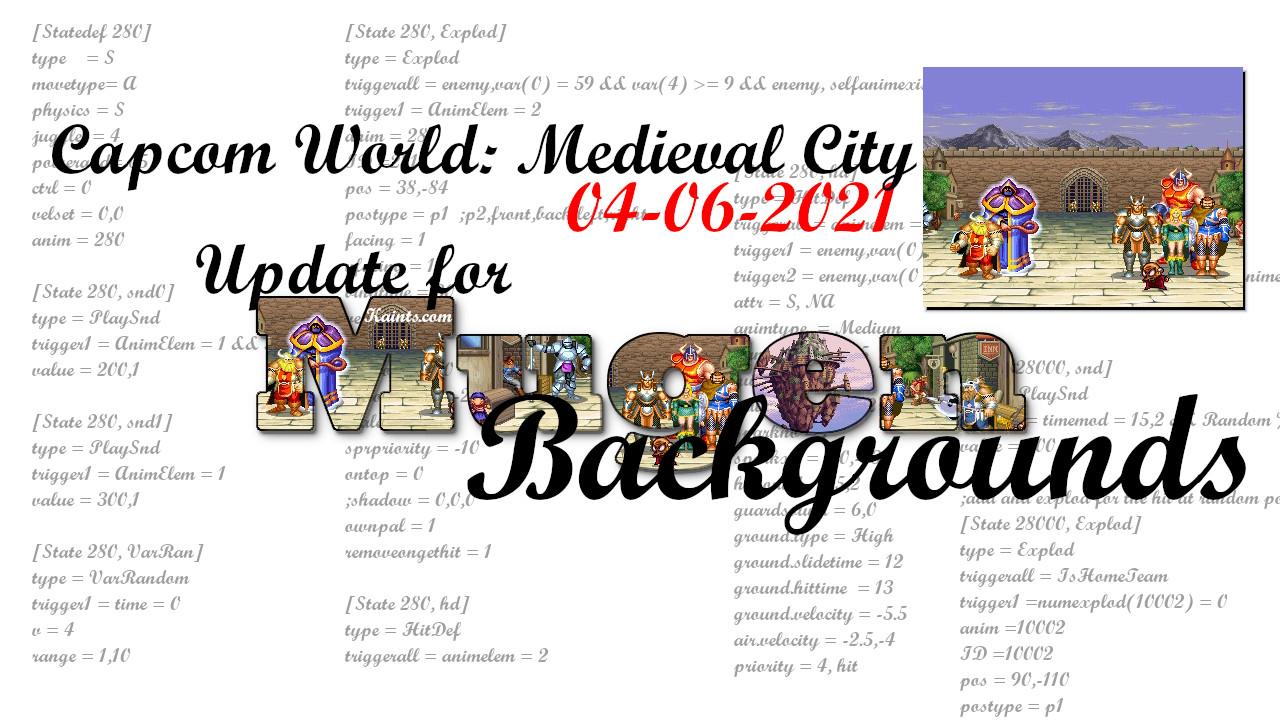 Aggiornamento per Capcom World: Medieval City