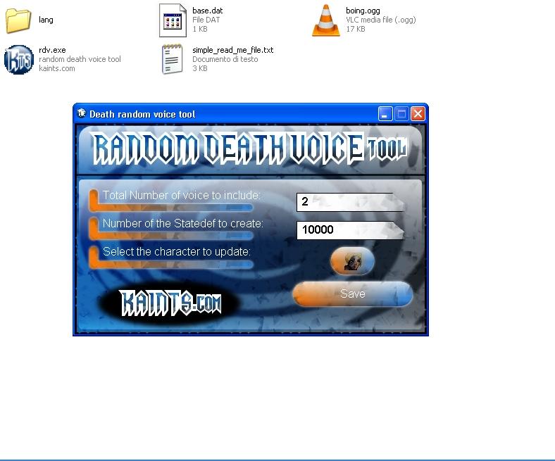 Mugen: Random Death Voice Tool En Cover