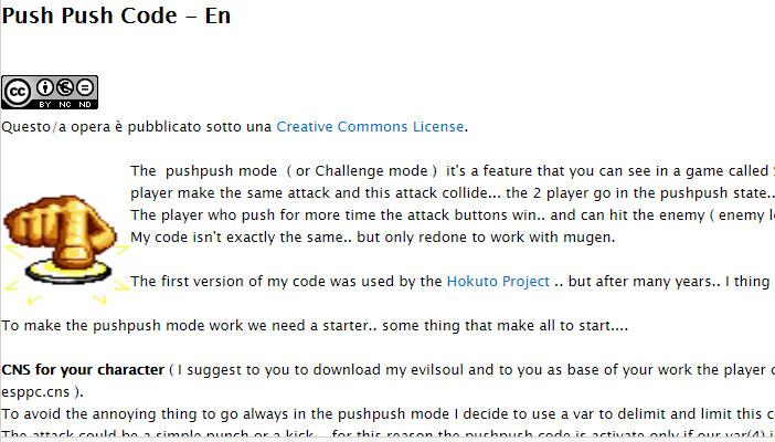 Cover Tutorial Win Mugen: Push Push Code - En